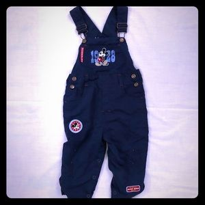 Disney 24 Month Year Old Navy Blue Mickey Overall
